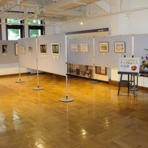 ななえ絵画教室アップル ムーン作品展2014会場の記録